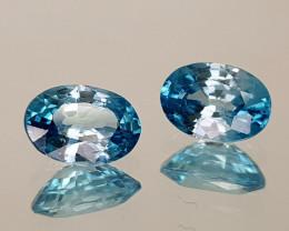 2.24Crt Blue Zircon Natural Gemstones JI17