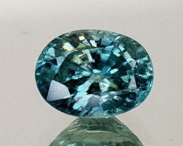 2Crt Blue Zircon Natural Gemstones JI17