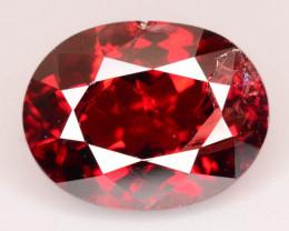 Top Grade 6.85 ct Fancy Cut Orangish Red Garnet~KS