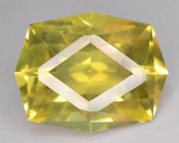Top Color 14.30 ct Fancy Cut Lemon Citrine