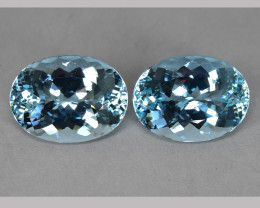 PRIVATE AUCTION  33.90 CTS FANTASTIC HUGE FLAWLESS NATURAL BLUE AQUAMARINE~