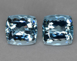 19.40 CTS BEST GRADE~SPARKLING~RARE NATURAL BLUE AQUAMARINE~CUSHION!!