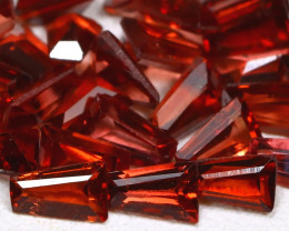 Malaya Garnet 4.18Ct 34Pcs Baguette Cut Natural Malaya Garnet Lot C0710