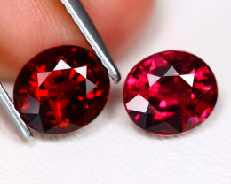 Mahenge Garnet 3.72Ct 2Pcs Oval Cut Natural Mahenge Garnet C0717
