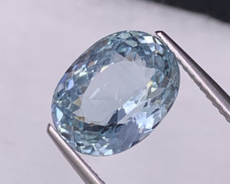 4.43 Cts Lustrous Top Quality Sky Blue Natural Aquamarine