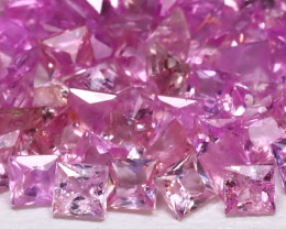 5.07Ct Princess 2.0mm Natural Untreated Pink Color Sapphire Lot B7948