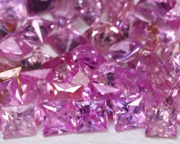 3.02Ct Princess 2.0mm Natural Untreated Pink Color Sapphire Lot BT0145