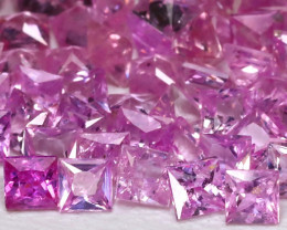 4.06Ct Princess 2.0mm Natural Untreated Pink Color Sapphire Lot B7950
