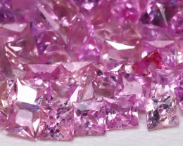 4.24Ct Princess 2.0mm Natural Untreated Pink Color Sapphire Lot B7951