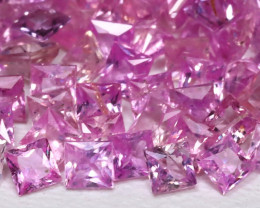 5.75Ct Princess 2.0mm Natural Untreated Pink Color Sapphire Lot B7953