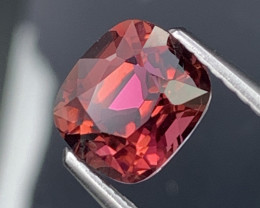 1.54 Cts Deep Red Fine Grade Natural Tourmaline VVS Custom Cut