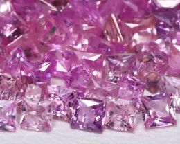 3.33Ct Princess 1.8mm Natural Untreated Pink Color Sapphire Lot B7955
