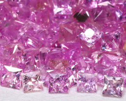 6.08Ct Princess 1.7mm Natural Untreated Pink Color Sapphire Lot B7954