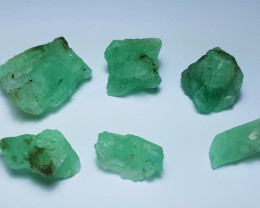 Beautiful Natural color Rough Emerald lot 125 Cts-Afghan B-N