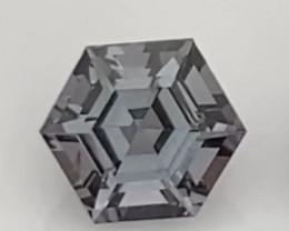 Pretty Hexagonal Cut Grey Spinel - Burma