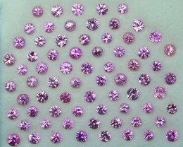 5.40Ct Natural Pink Sapphire Round 2.70mm Parcel