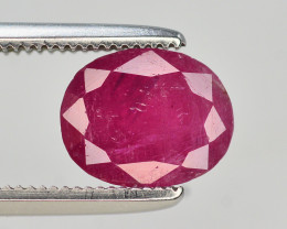 Brilliant Color 1.70 Ct Natural Ruby From Afghanistan