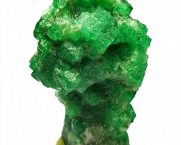 Stunning Natural color Cute Damage free Tree shape Swat Emerald Crystal 100