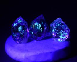 Rare 5.20 ct Natural Ancient Fluorescent Quartz With Ancient Petrolium