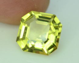 Lemon Citrine  6.30 ct Fancy Asscher Cut
