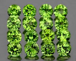 3.00 mm Round 25 pcs 3.18cts Green Peridot [VVS]