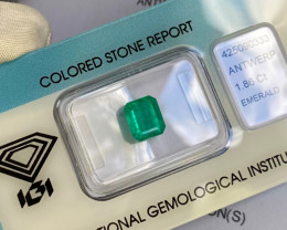 1.86ct Colombian Emerald IGI CERTIFIED Emerald Octagon Cut RARE Gem