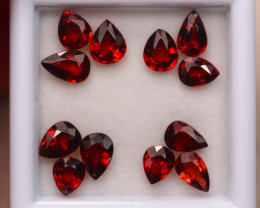 5.36ct Natural Rhodolite Garnet Pear Cut Lot P386