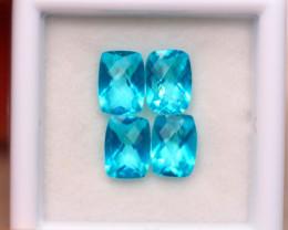 4.51ct Natural Paraiba Color Topaz Octagon Cut Lot GW7924