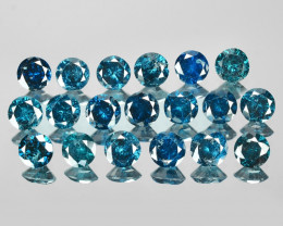 *NoReserve*Diamond 3.68 Cts 19pcs 3.6mm Rd Sparkling Rare Blue Color