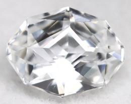 Certified Zircon 1.59Ct Precision Oval Cut Natural White Zircon B0905