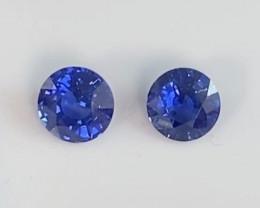 Pretty Bright Blue Burmese Sapphire Pair