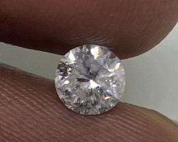 (2) Cert EGL  Fiery 0.70cts I1 Natural  White Round Loose Diamond