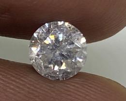 (4) Cert EGL Beautiful  0.53cts I1 Natural  White Round Loose Diamond