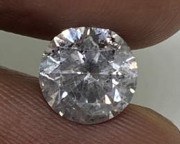 (8) Certified $5225 Precious  1.70cts I1 Nat White Round Loose Diamond