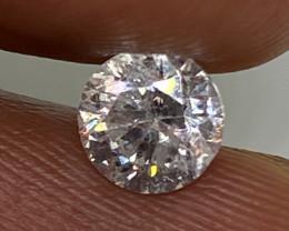 (7) Cert $1915 Beautiful  0.73cts SI2 Nat  White Round Loose Diamond