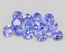 0.70  Cts 15pcs Amazing rare Violet Blue Color Natural Tanzanite Gemstone