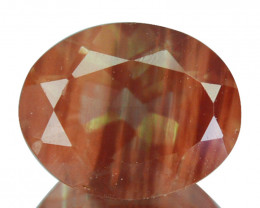 1.88 Cts Natural Greenish Sparkle Red Sunstone Andesine Oval Congo