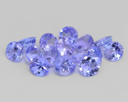 0.73 Cts 15pcs Amazing rare Violet Blue Color Natural Tanzanite Gemstone
