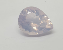 20.89 Ct Lavender Quartz  Faceted Pear Drop 21.5x17mm( SKU 47)