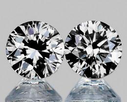 2.30 mm Round 2 pcs 0.10ct Natural White Diamond GHI VVS-VS