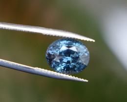 Spinel - Greyish Blue - 2.0ct  Cert -