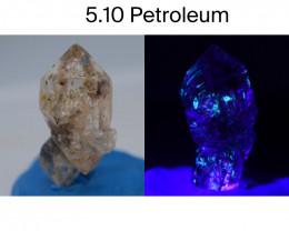 Rare 5.10 ct Natural Ancient Fluorescent Quartz With Ancient Petrolium