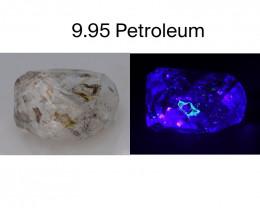 Rare 9.95 ct Natural Ancient Fluorescent Quartz With Ancient Petrolium