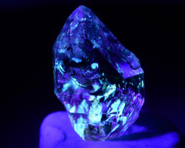 Rare 3.75 ct Natural Ancient Fluorescent Quartz With Ancient Petrolium