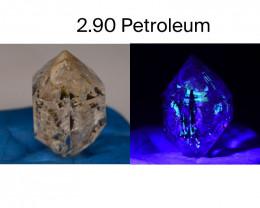 Rare 2.90 ct Natural Ancient Fluorescent Quartz With Ancient Petrolium