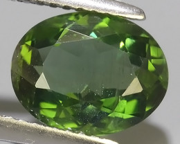 3.00 CTS GENUINE TOP GREEN COLOR APATITE OVAL GEM BRAZIL