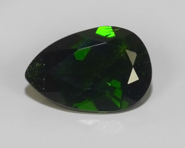 1.80 CTS NATURAL UNHEATED DARK GREEN CHROME DIOPSIDE PEAR EXCELLENT~