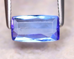 Tanzanite 0.80Ct Natural VVS Purplish Blue Tanzanite DF0920/D3