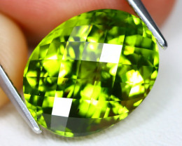 Peridot 8.06Ct Pixalated Cut Natural Neon Green Color Peridot C0904