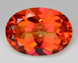 6.01 Cts Rare Fancy Orange Red Color Natural Mystic Topaz